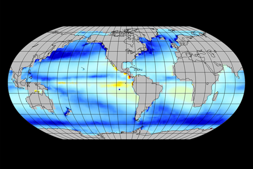 Global map of CO2 flux