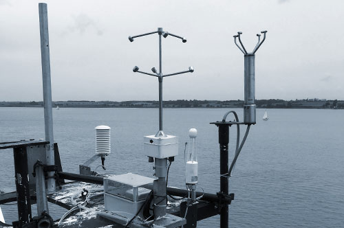 Eddy covariance equipment on the mast